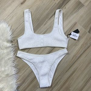 NWT Kendall & Kylie Henley Optic White Swim Suit